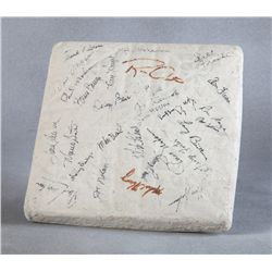 Roy Rogers' Cincinnati Reds Autographed Second Base