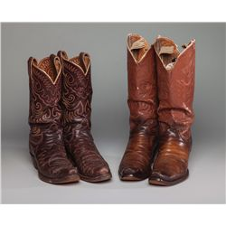 Two Pair Cowboy Boots from the Roy Rogers and Dale Evans Museum