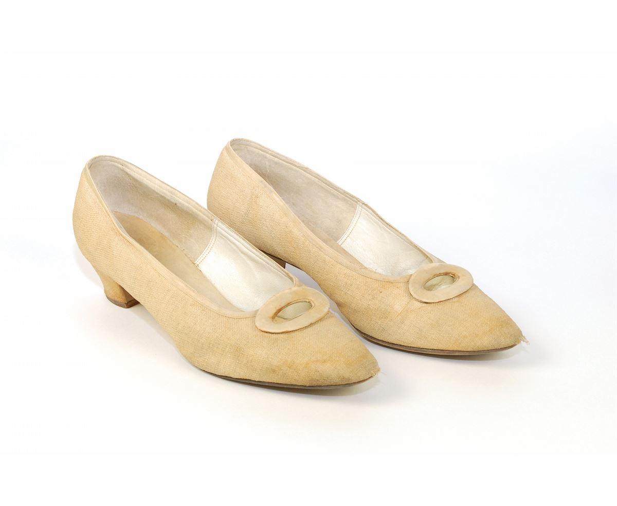Jacqueline Kennedy S Delman Linen Shoes