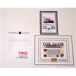 1912 GENUINE COAL FROM THE WHITE STAR LINE TITANIC BOILER COMES WITH COA