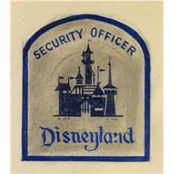 Original Disneyland security guard patch design.