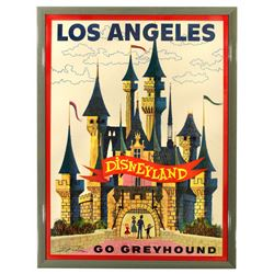Greyhound Disneyland travel poster.