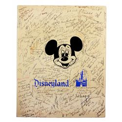 Signed Disneyland retirement card.