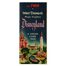 Disneyland A Dream Come True TWA complimentary fold-out map.