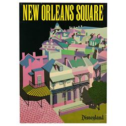 "New Orleans Square ""Near-Attraction"""" poster from the Main Street Emporium."