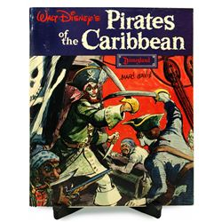 Marc Davis signed Pirates of the Caribbean souvenir guidebook.