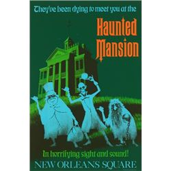 Original Haunted Mansion  attraction poster.