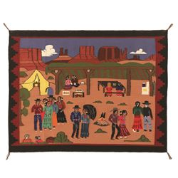 Navajo Pictorial Weaving, 4' x 3'1""