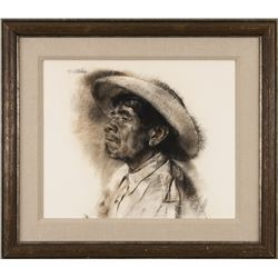 William Whitaker, charcoal
