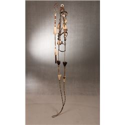 Hitched Horsehair Quirt and Bridle