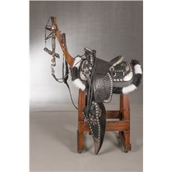H.H. Heiser Silver Mounted Parade Saddle, Model #300