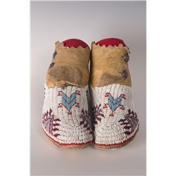 "Southern Plains Moccasins, 10"" long"