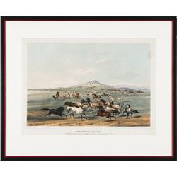 George Catlin, hand-colored lithograph