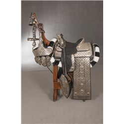 Ron Bentley (Oakland, CA) Silver Mounted Tooled Parade Saddle