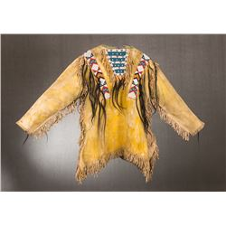 "Arapahoe Beaded Scalplock Warrior's Shirt, 35"" x 25"""