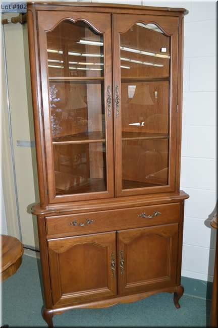Image 1 : A Walnut Sideboard And Corner Cabinet Made By Gibbard ...