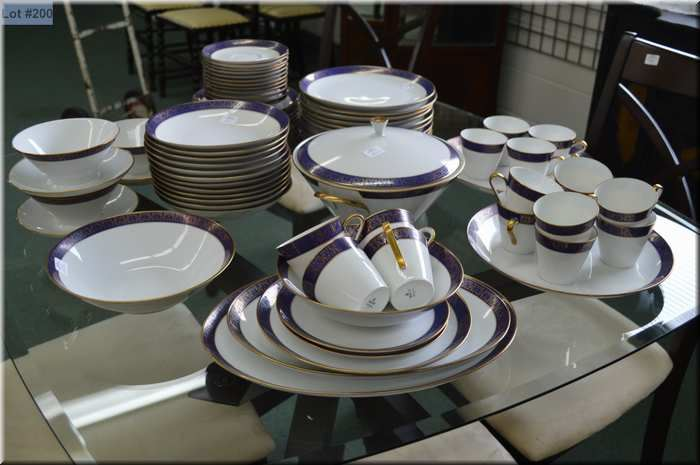 eschenbach bavaria germany china dinnerware with settings for twelve of dinner plates sides plates. Black Bedroom Furniture Sets. Home Design Ideas
