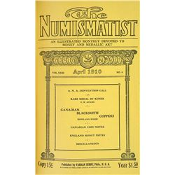 1910 Volume of the Numismatist