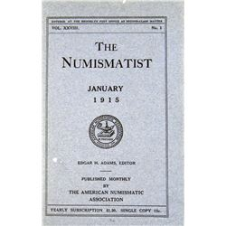 1915 Volume of the Numismatist