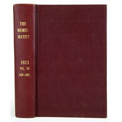 1923 Volume of the Numismatist