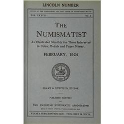 1924 Volume of the Numismatist