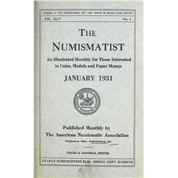 1931 Volume of the Numismatist