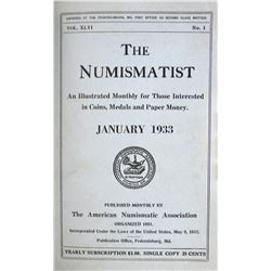 1933 Volume of the Numismatist