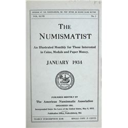 1934 Volume of the Numismatist