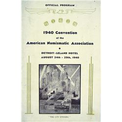 1940 ANA Convention Program with Rare Inserts