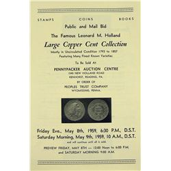 The Famous Sale of the Holland Large Cents