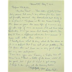 Handwritten Letter from Hillyer Ryder on Massachusetts Coppers