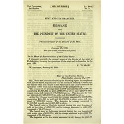 The 1849 Mint Report