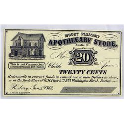 W. Elliot Woodward 20-cent Scrip