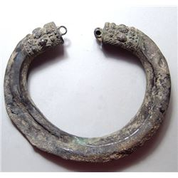 Near Eastern silver armlet with decorated terminals