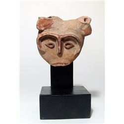 A terracotta head from a bull, Roman Egypt