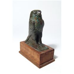 A beautiful Egyptian bronze figure of Horus