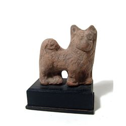 Egyptian terracotta figure of a Sothic dog