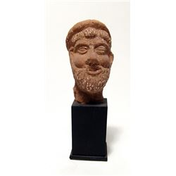 Egyptian terracotta head of a bearded man