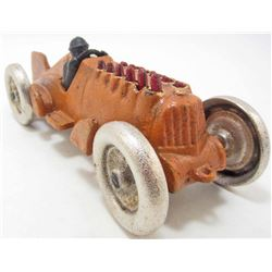 CAST IRON RACING CAR W/ DRIVER & MOVING PISTONS