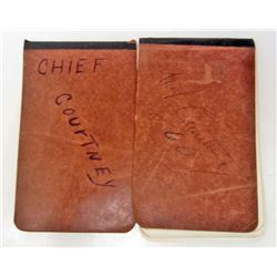 LOT OF 2 VINTAGE 1972-73 CHIEF OF POLICE NOTEBOOKS