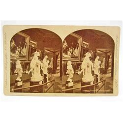 1876 STEREOVIEW PHOTO CARD AT INTERNATIONAL EXPOSITION