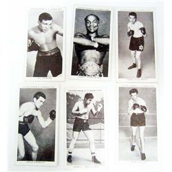 LOT OF 6 VINTAGE CHURCHMAN BOXING CIGARETTE CARDS