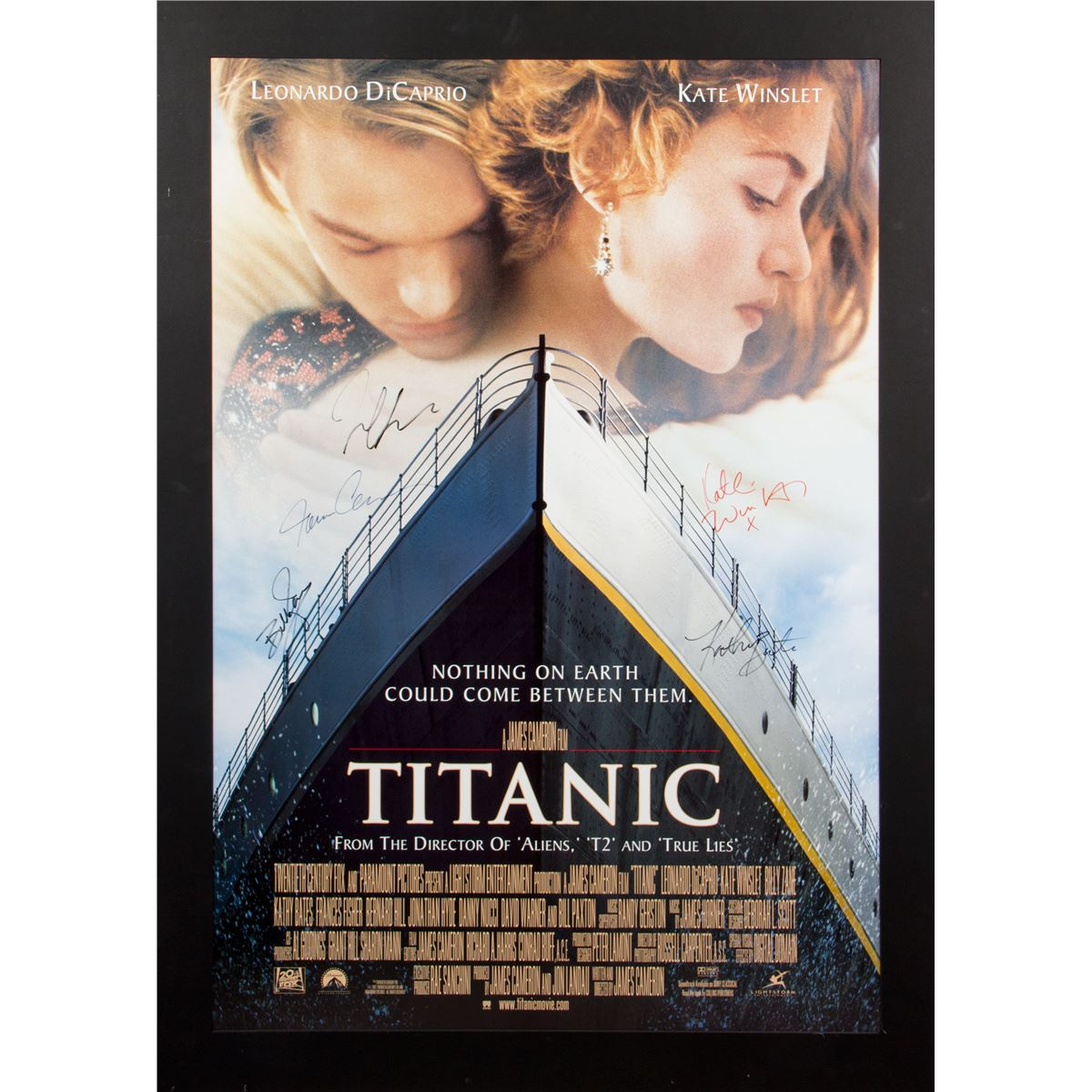 titanic original 1997 onesheet poster signed by cast members