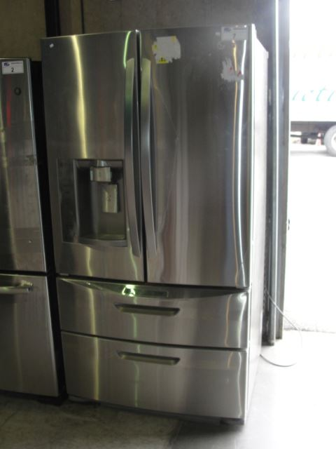 lg stainless steel 4door refrigerator with ice and water. Black Bedroom Furniture Sets. Home Design Ideas