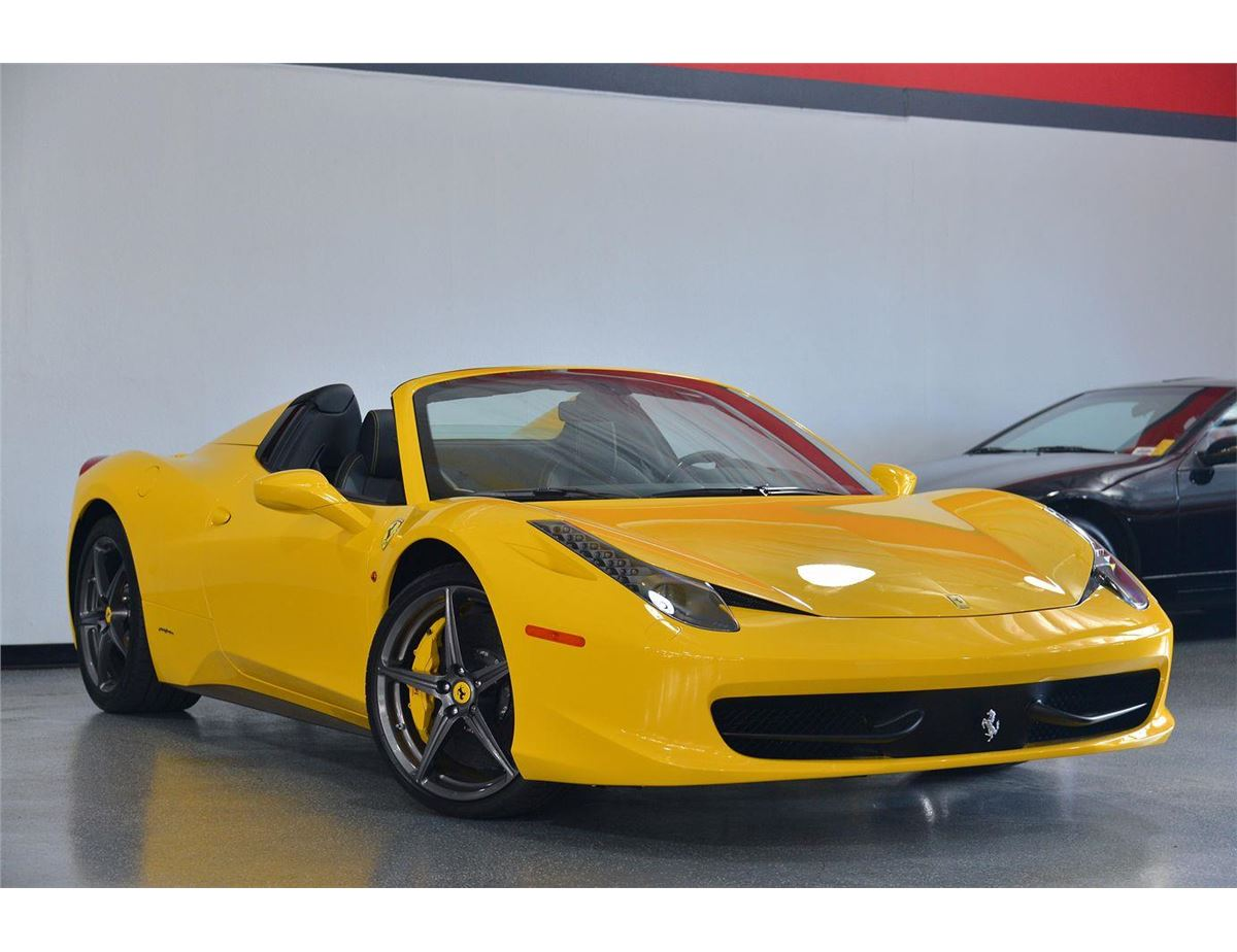2014 yellow ferrari 458 spider base convertible loading zoom - Ferrari 2014 Yellow