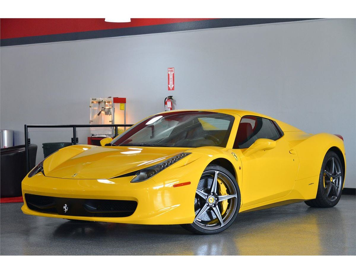 image 5 2014 yellow ferrari 458 spider base convertible - Ferrari 2014 Yellow