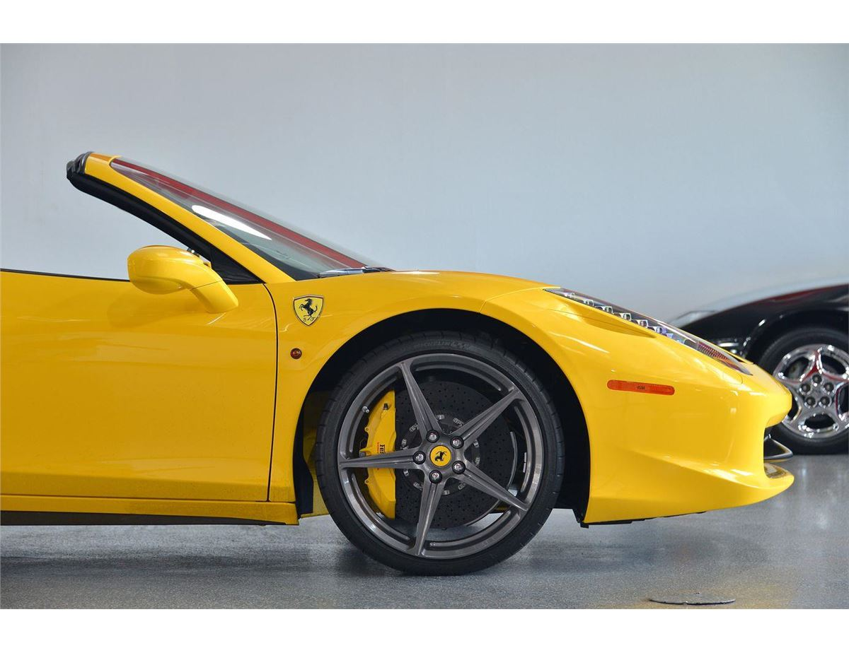 image 9 2014 yellow ferrari 458 spider base convertible - Ferrari 2014 Yellow