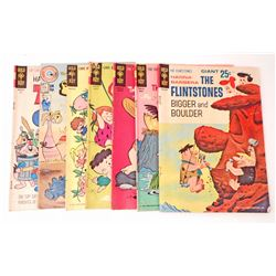 LOT OF 7 VINTAGE GOLD KEY AND CHARLTON HANNA - BARBERA COMIC BOOKS