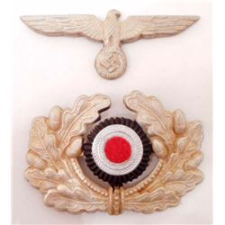 SET OF2 NAZI GERMAN ARMY AND COCKADE HAT BADGES
