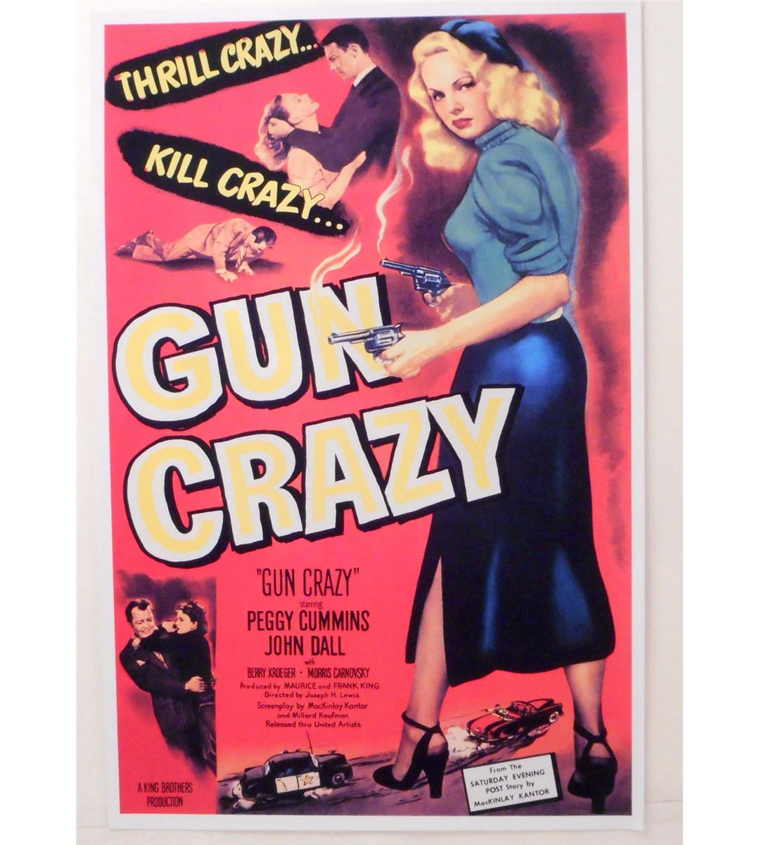 "GUN CRAZY MOVIE POSTER PRINT APPROX. 11"" X 17"""